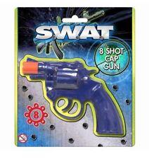 8 Shot Cap Pistol Gun Caps Rings Plastic Toy Kids Child Outdoor Revolver SWAT