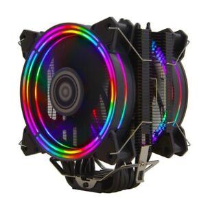 H120D CPU Cooler RGB Fan 120mm PWM 4 Pin 6 Heat Pipes Cooler for LGA 775