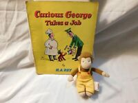Curious George Gund and Curious George Takes a Job Book VTG