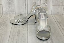 Touch Ups Leah by Dyeables Heels - Women's Size 7.5 B - Silver