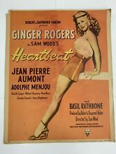 Ginger Rogers Original Heartbeat Movie Poster 1946