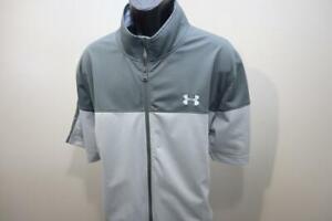 Under Armour Jacket Shirt Short Sleeve Full Zip Gray Golf Shirt Mens Sz 3XL