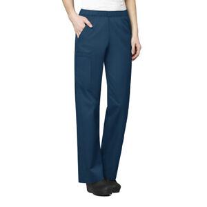 Four Way Stretch Cargo Scrub Pants Drawstring 3-Pocket Women's, 2X-Large 2XL