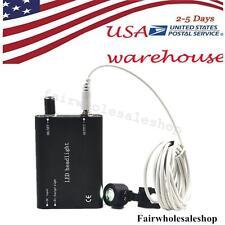 Portable Black LED Head Light Lamp f/ Dental Surgical Medical Binocular Loupe US