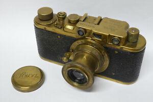 Russische Leica / Leitz Kopie gold  mit Elmar 3,5 / 50 mm Objektiv