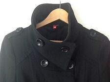 H&M NERO cappotto militare EU 36