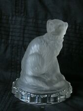 "ANTIQUE FRENCH BACCARAT FROSTED GLASS FIGURINE PAPERWEIGHT ""DOG"""