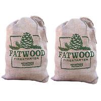 Betterwood Products Fatwood Firestarter 10 Pound Burlap Bag (2 Pack)