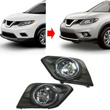 Pair Fog Driving Light Cover Bezel w/ Switch Harness For Nissan Rogue 2014-16