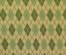 SUNBRELLA PREP DAFFODIL PLAID GREEN DIAMOND OUTDOOR FURNITURE FABRIC 14 YARDS