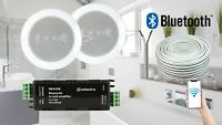 Bathroom Kitchen Ceiling Speakers and Wireless Bluetooth Amplifier System Kit