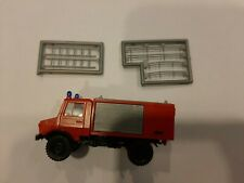 New/Vintage Roco Minitanks #1304 Unimog Feuerwehr Fire Truck HO Scale