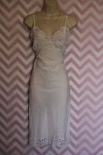 Lady Lynne White Lace Slip Size S True Vintage Nylon USA