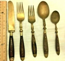 Thailand Bronze and Wood Flatware, 5 piece setting