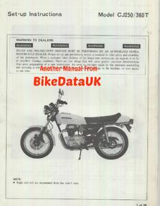 Honda CJ 250 & 360 Twins (1976 >>) Original PDI Set-Up Manual CJ 360 250 T CY44
