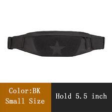 Men Sports Running Belt Waist Pocket Bag Jogging Tactical Sling Chest Fanny Pack Black Large