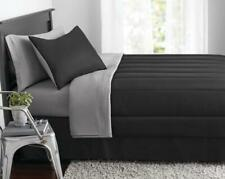 Black Gray Twin Full Queen Or King Size Comforter Set Bed in Bag Bedding Sheets