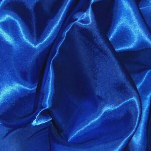 """SHIMMER SATIN ROYAL BLUE  60"""" WIDE  X 5 METERS END ROLL CLEARANCE 0103"""