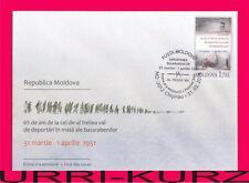 MOLDOVA 2016 Tragedy of Mass Deportations 65th Anniversary Sc900 Mi947 FDC