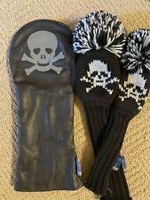 Stitch Bonesman Driver, 3-wood & Hybrid Headcover Set, Black, Excellent🔥
