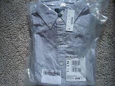 new J. CREW Men Short-sleeve seersucker shirt item 46926 M