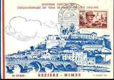 TOUR DE FRANCE 1953 53 carte FDC Vélo cycliste BEZIERS NIMES 14em étape cyclisme