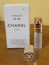 More details for vintage chanel no 19 atomiseur refillable purse spray