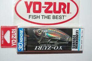 "yo zuri 3d inshore surface minnow 2 3/4"" 1/4oz r1214-hgsh holo ghost shad"