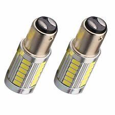 2pcs White P21W 1157 BA15S Cree 33 LED Bulb 5730 SMD Super Bright Car Light Auto