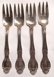 209 grams Tiffany & Co. Richelieu Sterling Silver Teaspoon 4 Salad Forks Mono