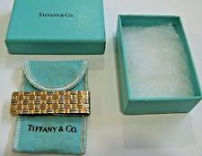 Vintage TIFFANY&CO  Sterling Silver18K Gold Weave Money Clip 1 oz