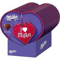 I Love Milka Herz Pralinen, Haselnusscreme - Geschenk Präsent Herzen 12x165 g Pg