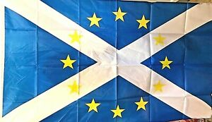 EU/SALTIRE FLAG  5ft X 3ft - BRAND NEW - ONLY £5.95 - Limited availability