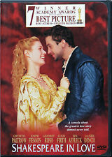 Shakespeare In Love - Ws Dvd, Dd 5.1 English Gwyneth Paltrow Ben Affleck - Mint