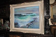 Lovely Vintage Seascape By  Listed Artist Louise Johnson