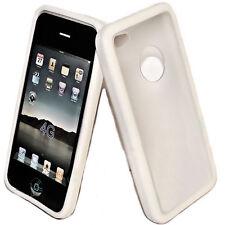 Protect Silikon TPU Cover Hülle weiß + Displayschutzfolie für Apple iPhone 4S