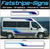 5m MOTORHOME VINYL GRAPHICS STICKERS DECALS STRIPES SET CAMPER VAN PEUGEOT BOXER