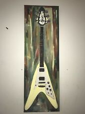 Gibsn Guitar Flying V Canvas Wall Art Painting Gibson