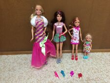 Barbie Sister Skipper Stacie Chelsea A Perfect Christmas Dressed Doll Lot