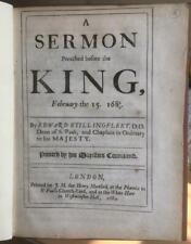 1684 'Whitehall Sermon Preached Before The King' Edw.Stillingfleet.  Job xxiii