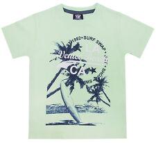 Boys Short Sleeve T Shirt 100% Cotton Summer Top Slogan Beach Holiday Kids Size