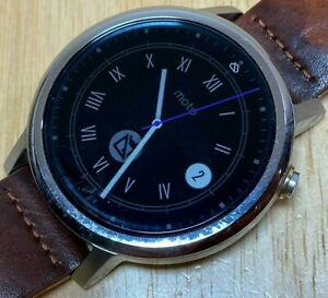 Motorola MOTO 360 Smartwatch Men Silver Leather Pedometer Smart Watch Hours
