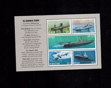 One Booklet Pane of 5 sc#3373-77 Navy Submarine MNH 3377a