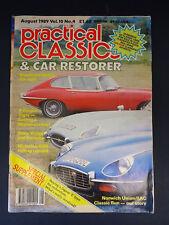 Practical Classics & Car Restorer: Aug 1989, Vol 10, No 4: Tiger, Stag, Porsche