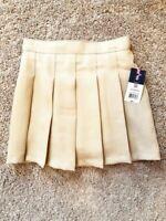 IZOD Uniform Skirt Khaki Pleated Skort Girls Size 8 Lot of 2 School Approved NWT