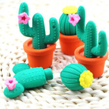 Cute Cactus Shape Pencil Eraser Stationery School Supplies Student Kids Gift