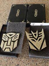 Car Metal Crystal Badge Emblem Sticker Transformers Autobot 3D Logo