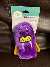 ZippyPaws - Squeakie Buddie Purple Walrus Plush Small Dog Toy