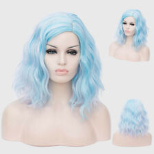 Curly Synthetic Hair/ Gradient Color Middle Part Bubble Shoulder Wig