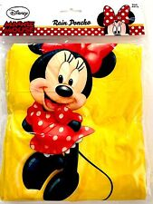 Disney Adult Yellow Minnie Mouse Standing Rain Poncho Keep Dry